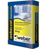 Pegamento Para Cerámicos Baños Weber Col Impermeable X 30 Kg