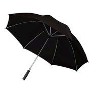 Paraguas Gigante Negro Reforzado Con Sistema Wind Proof
