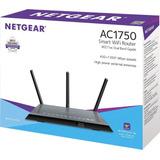 Netgear - Ac1750 Dual-band Wi-fi Router - Black