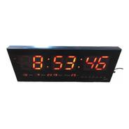 Relógio De Parede Led Digital - Calendário E Termômetro