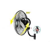 Ventilador Fan Star 18 Pulgadas Pared Negro Oscilación 360