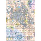 Mapa De Leon Gto Por Colonias Mural Cartulina 1.8m