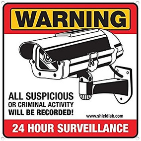 Camera Signs Can Prevent Theft Vandalism And Loitering By Di