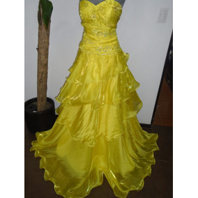 Vestido Amarillo Xv Talla Mediana