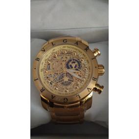 b5e9dcc2436 Relógio Bv Iron Man Skeleton Fundo Dourado - A Prova D. R  389 99
