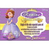 Princesa Sofía Disney Tarjeta De Invitación Personalizada
