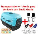 Transportadora, Jaula: Perro O Gato+ Arnés Con Envió Gratis