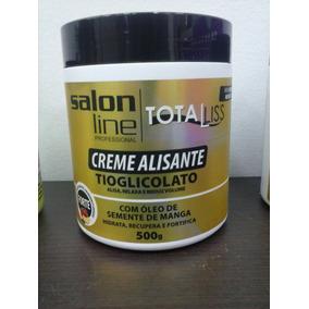 Kit Com 10 Creme Alisante Salon Line Tiaglicolato Forte