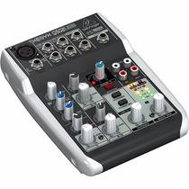 Mesa De Som Behringer Xenyx Q502 Usb Mixer Phantom Power