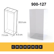 Caja De Acetato Pvc Transparentes 20x 7.5 X 4.5 Cm (x12u)