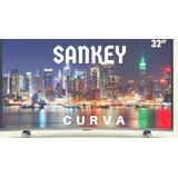 Led 32 Sankey Diseño Elegante Curvo,usb,hdmi,vga,playsound