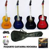 Guitarra Acustica Tipo Rockera Accesorios Y Envio