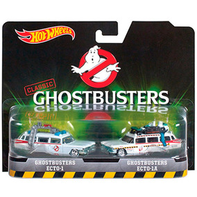 Caça Fantasmas Hot Wheels Ghostbusters Ecto-1 Ecto-1a 2-pack