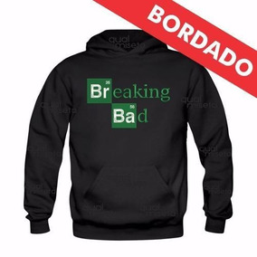 Canguru Bordado Breaking Bad Moletom Moleton Blusa Agasalho