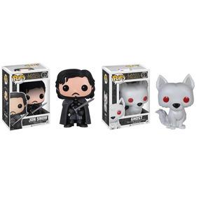 2 Pop Funko - Game Of Thrones - Jon Snow E Ghost