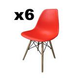 Sillas Eames Dsw Base Diseño Moderno Sillas X6 Combo