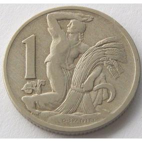 Chekoslovaquia Moneda 1 Koruna 1922 Km # 4 Vf