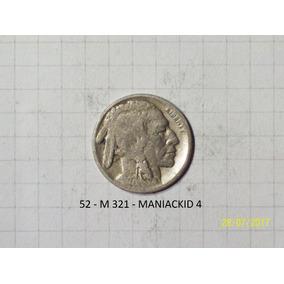 Estados Unidos 5 Centavos Bufalo 1927 Escasa
