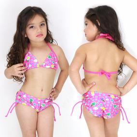 Biquini Infantil Shortinho Feminino Estampado Praia Verão