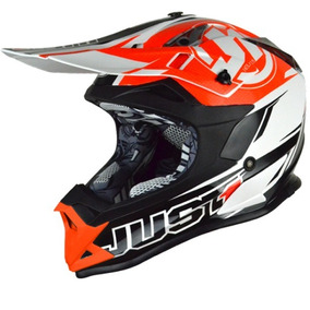 Casco Motocross Just1 Pro Rave Orange Talle S