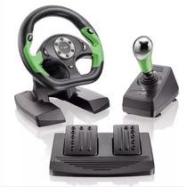 Volante Para Xbox 360 E Pc Pro50 Usb + Pedais + Câmbio