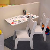 Mesa Inf Dobrável Suspensa 70x40 C/ 02 Cadeiras Kids Bra Est