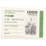 Timbres Fiscales Nacionales De 1000