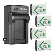 Kit 4 Baterías + Cargador Sony Np-bx1 Marca Kastar