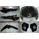 Combo 5 Plasticos Zanella Zb G1 110 Negro - 2 Ruedas