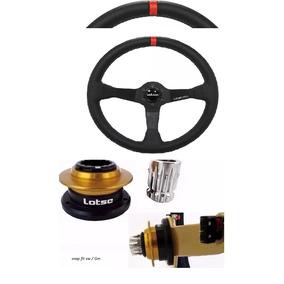 Volante Esportivo Lotse Wrc + Cubo +snap-fit Universal Gm/vw