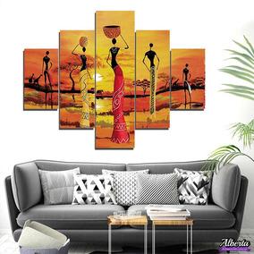 Cuadros Decorativos Modernos Africanas Poliptico 100x80cm