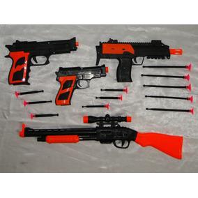 Super Kit Kingsman 02 Pistola 01 Metralha 01 Sniper Ñ Nerf