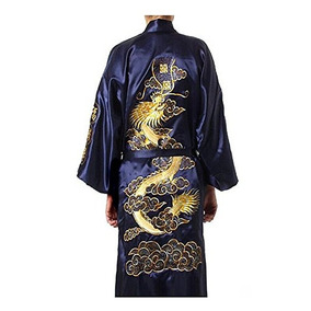 Albornoz Para Hombre Kimono Con Cinturón