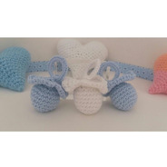 Souvenirs Chupetes A  Crochet, Baby Showers, Nacimientos