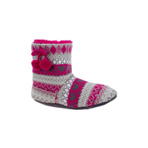Bota Pantuflas Dama Textil Tejido 134982 Bo1 Envío Gratis