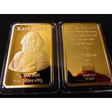 Lingote Karl Mark 1818 1883 Fantasia Color Oro