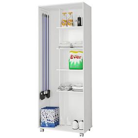 armário Multiuso Lavanderia 2 Portas - Linho Branco