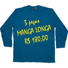 Kit C/ 3 Manga Longa Plus Size - Big - G1 Ao G5 - Ref K411-3