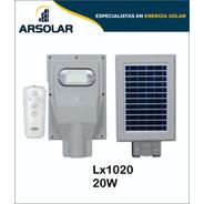 Luminaria Led Solares  De 20w Con Sensor De Movimientos