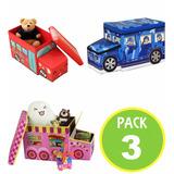 Pack 3 Baul Caja Organizadora Juguetes 99308/ Fernapet