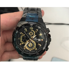 Relógio Casio Edifice 539 Preto Black Goldpronta Entrega 02