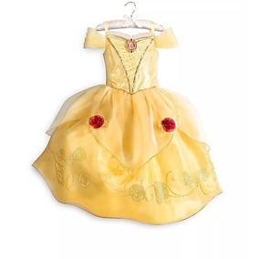 Vestido Fantasia Princesa Bela E A Fera Luxo Disney Original