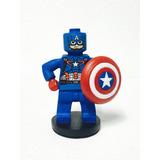Adorno Para Torta Lego Capitán América