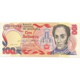 Billete De 100 Bolívares 1980 Serial A8