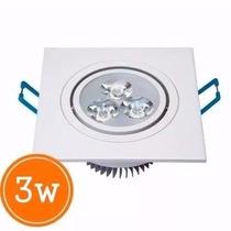 Spot Embutir Super Led 3w Bivolt Quadrado Branco Quente