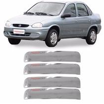 Kit Aplique Corsa Classic 2002 A 2015 Capa Maçaneta 4 Portas