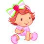 Kit Cenário Display Chão Mesa Moranguinho Baby Com 4 Peças