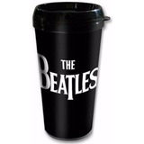 Vaso Térmico The Beatles Logo Plástico 443m Negro