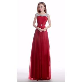 V1274 Vestido De Coctel, Vestido Elegante Rojo