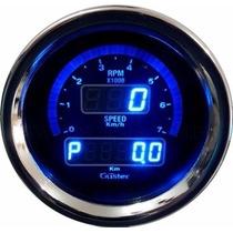 Conta Giros E Velocimetro Digital 85mm Guster Azul